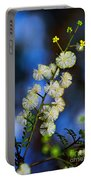 Dainty Wildflowers On Blue Bokeh By Kaye Menner Portable Battery Charger