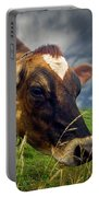 Dairy Cow Eating Grass Portable Battery Charger
