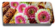 Daises On Indian Corn Portable Battery Charger