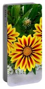 Daisies 3b Portable Battery Charger