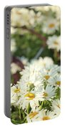 Daisies And A Hand Plow Portable Battery Charger