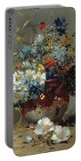 Daisies And Cornflowers Portable Battery Charger