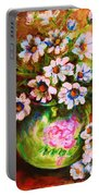 Daisies And Ginger Jar Portable Battery Charger