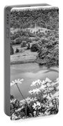Daisies At Queens View In Greyscale Portable Battery Charger