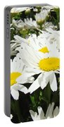 Daisies Floral Landscape Art Prints Daisy Flowers Baslee Troutman Portable Battery Charger