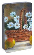 Daisies In Basket Portable Battery Charger