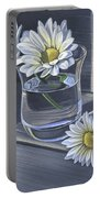 Daisies In Drinking Glass No. 2 Portable Battery Charger