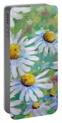 Daisies In Spring Portable Battery Charger
