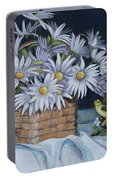 Daisies In Still Life Portable Battery Charger