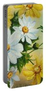 Daisies In The Sky Portable Battery Charger