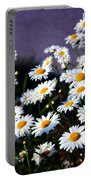 Daisies Portable Battery Charger by Lana Trussell