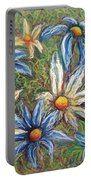 Daisies Pastel Portable Battery Charger