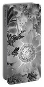 Daisy Bouquet In Black And White Portable Battery Charger