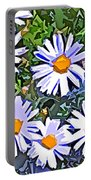 Daisy Flower Garden Abstract Portable Battery Charger
