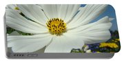 Daisy Flower Garden Artwork Daisies Botanical Art Prints Portable Battery Charger