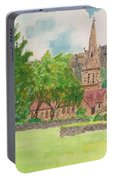 Edale Church And Beautiful Landscape Portable Battery Charger
