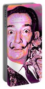 Dali With Ocelot And Cane Portable Battery Charger