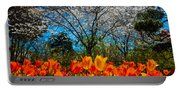Dallas Arboretum Tulips And Cherries Portable Battery Charger