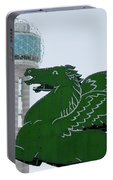 Dallas Pegasus Reunion Tower Green 030518 Portable Battery Charger