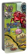 Dallas Texas Cartoon Map Portable Battery Charger