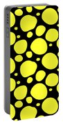 Dalmatian Pattern With A Black Background 05-p0173 Portable Battery Charger