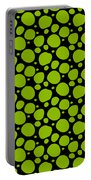Dalmatian Pattern With A Black Background 09-p0173 Portable Battery Charger