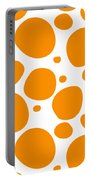 Dalmatian Pattern With A White Background 03-p0173 Portable Battery Charger