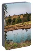 Dam At Sunset Landscape Portable Battery Charger