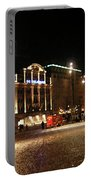 Dam Square Late Night - Amsterdam Portable Battery Charger