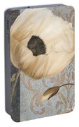 Damask Poppy Portable Battery Charger
