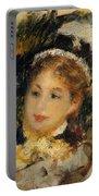 Dame En Toilette De Ville 1875 Portable Battery Charger