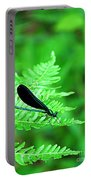 Damselfly On Fern Portable Battery Charger