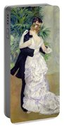 Dance In The City Portable Battery Charger by Pierre Auguste Renoir