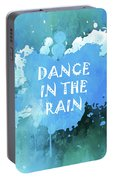 Dance In The Rain Cool Blue Portable Battery Charger