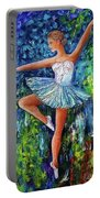Dance In The Rain Of Color  Portable Battery Charger