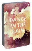 Dance In The Rain Red Version Portable Battery Charger