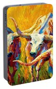 Dance Of The Longhorns Portable Battery Charger