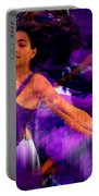 Dance Of The Purple Veil Portable Battery Charger