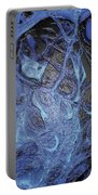 Dancer In Blue Portable Battery Charger