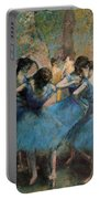 Dancers In Blue Portable Battery Charger by Edgar Degas