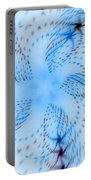 Dancing Blue Flower Star In Motion Portable Battery Charger