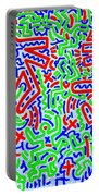 Dancing Dogs After Keith Haring 1958-90 Portable Battery Charger