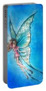 Dancing Fairy In Blue Sky Portable Battery Charger
