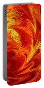 Dancing Flames Abstract  Portable Battery Charger