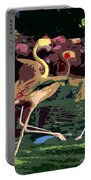 Dancing Flamingos  Portable Battery Charger