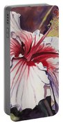 Dancing Hibiscus Portable Battery Charger