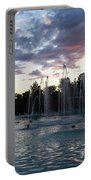 Dancing Jets And Music Sunset - Plovdiv Singing Fountains Portable Battery Charger