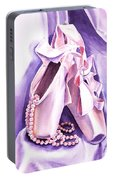 Dancing Pearls Ballet Slippers  Portable Battery Charger