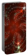 Dancing Red Flower Star In Motion Portable Battery Charger