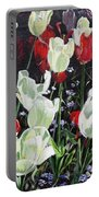 Dancing Tulips Portable Battery Charger